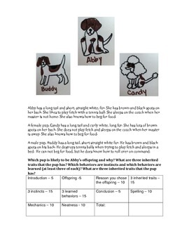 Inherited Traits and Learned Behavior Writing Prompt