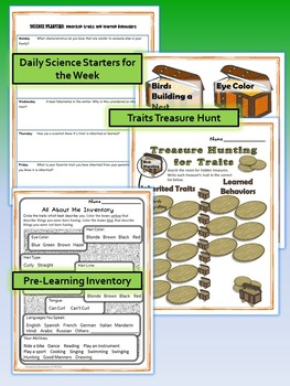 Inherited Traits and Learned Behaviors Science and Literacy Lesson Set (STAAR)