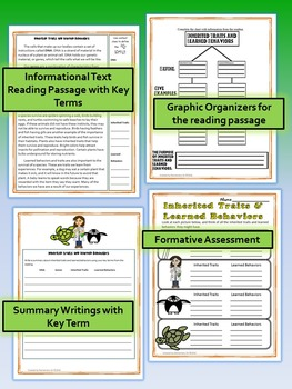 Inherited Traits and Learned Behaviors Science and Literacy Lesson Set (TEKS)