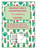 Inherited Traits and Learned Behaviors Vocabulary Sort- TE