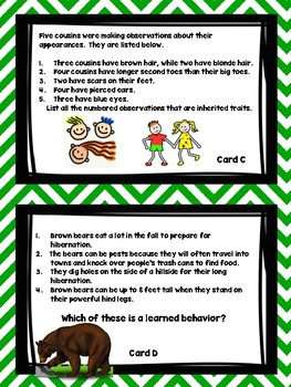 Inherited Traits versus Learned Behaviors