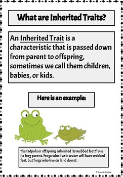 Inherited Traits vs. Learned Behavior: A Interactive Book Digital and Printable