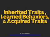 Inherited Traits vs. Learned Behaviors