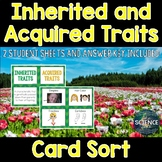 Inherited and Acquired Traits Card Sort