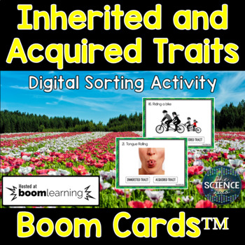 Inherited and Acquired Traits - Digital Boom Cards™ Sort