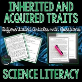 Inherited and Acquired Traits - Science Literacy Article