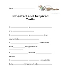 Inherited and Acquired Traits Vocabulary Fill-In-The-Blank