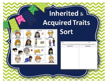 Inherited v Acquired Traits Sort