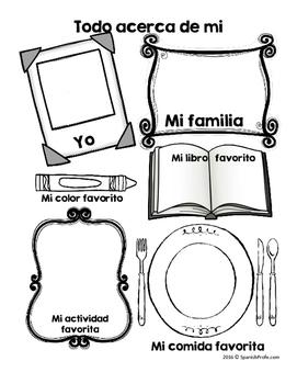 Inicio de la escuela actividades y escritura (Back to School Activities Spanish)