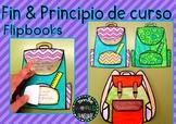 Inicio y fin de curso booklets Español Craftivity Spanish