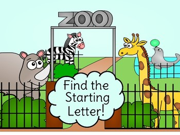 Inital Letter Zoo Animal Digital Game