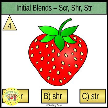 Initial Blends Three Letter Task Cards