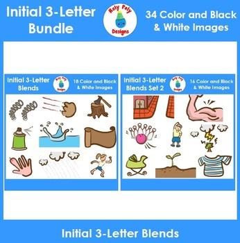 3-Letter Consonant Blend Phonics Clip Art Bundle