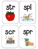 Initial 3 Letter S Blend Phonics Posters
