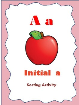Initial A - Sorting Activity - File Folder Game