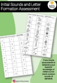 Initial Alphabet Sounds and Letter Formation Assessment -
