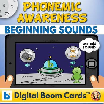 Initial Alphabet Sounds Digital Boom Task Cards