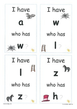 Initial Alphabet Sounds: I Have...Who Has? cards