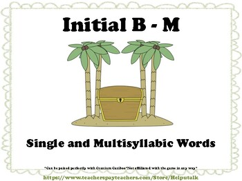 Initial B-M Articulation Cariboo Cards (Set 1)