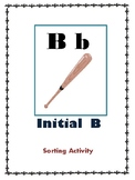 Initial B - Sorting Activity - File Folder Game