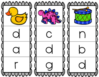 Initial/Beginning Sound Clip Cards: Dd
