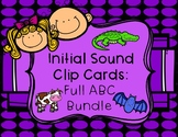 Initial/Beginning Sound Clip Cards: Full ABC Bundle (298 C