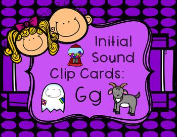 Initial/Beginning Sound Clip Cards: Gg