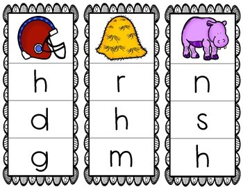 Initial/Beginning Sound Clip Cards: Hh - Freebie