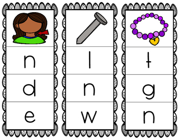 Initial/Beginning Sound Clip Cards: Nn