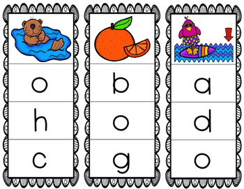 Initial/Beginning Sound Clip Cards: Oo