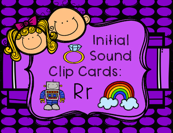 Initial/Beginning Sound Clip Cards: Rr