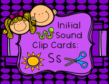 Initial/Beginning Sound Clip Cards: Ss