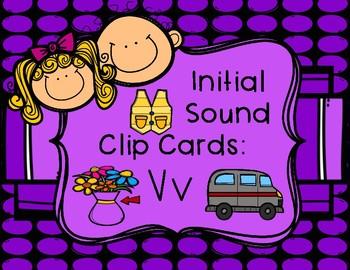 Initial/Beginning Sound Clip Cards: Vv