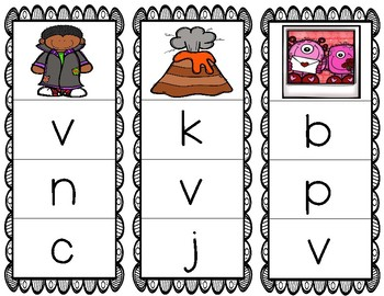 Initial/Beginning Sound Clip Cards: Vv