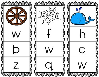 Initial/Beginning Sound Clip Cards: Ww