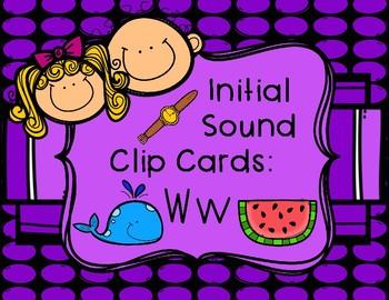 Initial/Beginning Sound Clip Cards: Ww