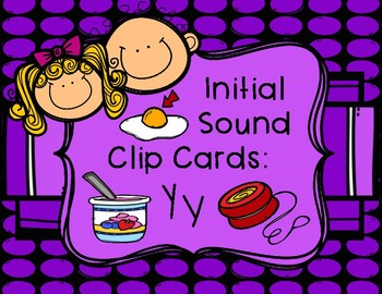 Initial/Beginning Sound Clip Cards: Yy