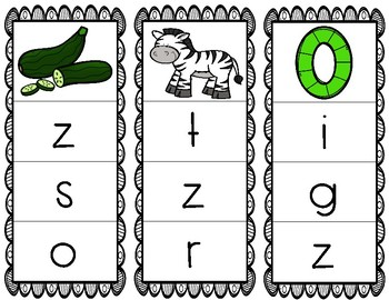 Initial/Beginning Sound Clip Cards: Zz