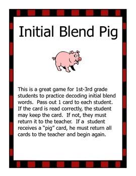 Initial Blend Pig Game