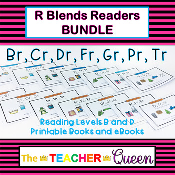 Initial Blend Readers MEGA BUNDLE Levels ABCD (Printable and Projectable Books)
