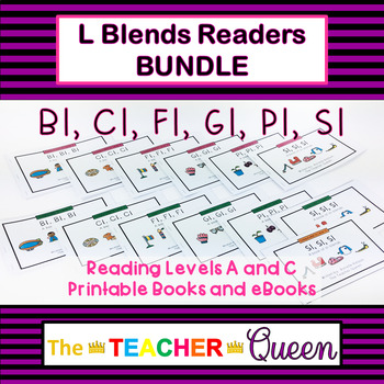 Initial Blend Readers MEGA BUNDLE Levels ABCD Printable and eBooks