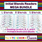 Initial Blend Readers MEGA BUNDLE Levels ABCD Printable an