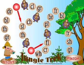 Initial Blend Revision Game {gr,dr,br,fr,tr,cr,fl,pl,bl,gl,sl,th,ch,wh,sh}