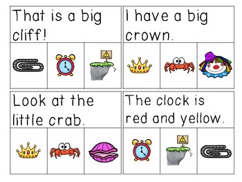 Initial Blend Sentences Read & Clip Cards