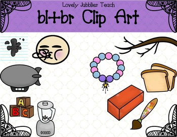 Initial Blends: Bl and Br Clip Art