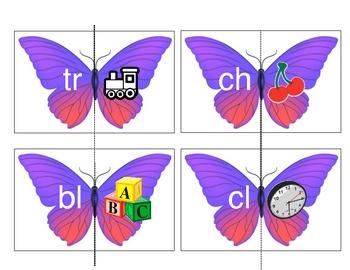 Initial Blends Butterflies