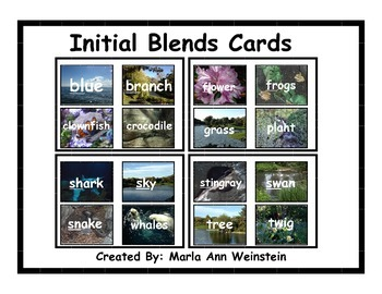 Initial Blends Cards