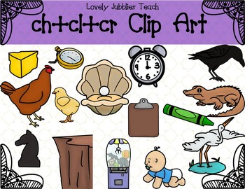 Initial Blends: Ch, Cl, and Cr Clip Art
