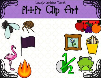Initial Blends: Fl and Fr Clip Art