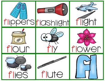 Initial Blends Flashcards with Pictures